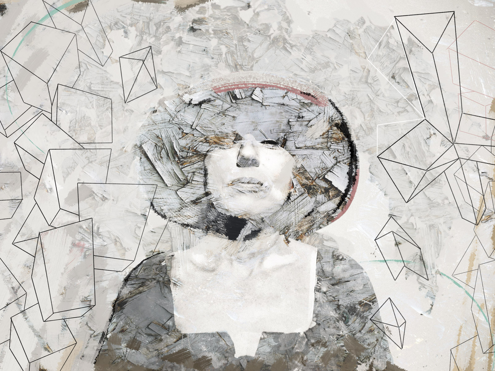 mixed media woman